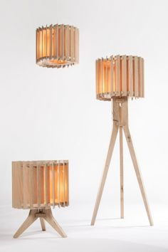 Lamel 3 Wooden Pendant Lamp by Samosa