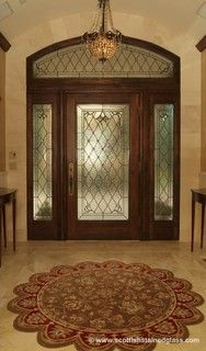 Entryway Stained Glass, Sidelights U0026amp; Transom Stained Glass Door, Custom  Stained