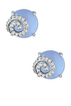 Blue chalcedony and diamonds, love!