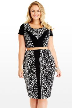 """A Plus Size Crop TOp and Bottom Set!!  Loving it! """"Sabrina Cropped Top""""- FTF"""