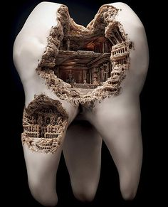 These Mind-Blowing Sculptures Are Real Teeth - TechEBlog    What would my dentist think?