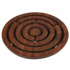 Amazon.com: Wooden Labyrinth Board Game Ball in Maze Puzzle Handcrafted in India: Toys & Games