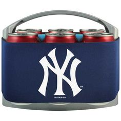 $22.99 Free Shipping  Yankees 6 pk cooler  Conference apparel | FREE Priority Mail Shipping | College Sports Apparel |