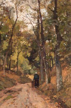 De Holle Weg, Wageningen, Theophile Emile Achille de Bock. Dutch (1851 - 1904) Tumblr