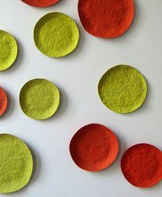 Paperpulp Bright Limited Wallplates by Debbie Wijskamp Paper Mache Bowls, Paper Mache Clay, Paper Mache Crafts, Paper Mache Sculpture, Paper Clay Art, Diy Paper, Pulp Paper, Paperclay, Paper Design