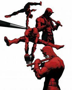 Daredevil by Marcelo Frusin Comic Book Characters, Comic Book Heroes, Marvel Heroes, Marvel Characters, Comic Character, Comic Books Art, Comic Art, Comic Pics, Marvel Universe