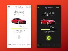 by Vishvector Mobile Ui Design, Ui Ux Design, One Design, Car App, Ui Inspiration, User Interface Design, App Ui, Interactive Design, Mobile App