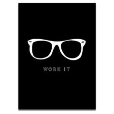 AphroChic: 20 Typographic Prints for Your Gallery Wall: Work It Print