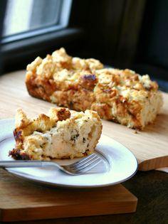 Rosemary bread pudding recipe, for Alice Munro