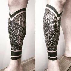couple tattoos on leg Upper Leg Tattoos, Best Leg Tattoos, Latest Tattoos, Body Art Tattoos, Tribal Tattoos, Paisley Tattoos, Maori Tattoos, Men Tattoos, Calf Sleeve Tattoo