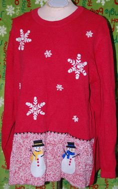 ugly Christmas sweater - add to the bottom of the sweater with a reindeer butt on the back