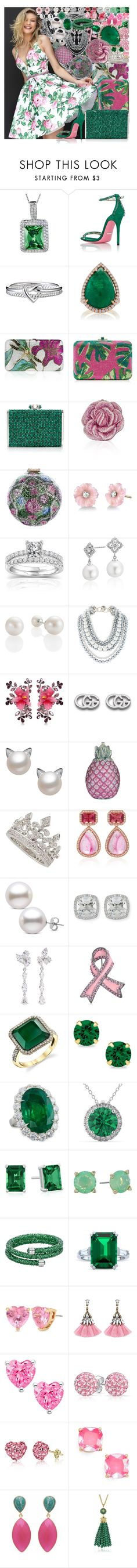 """""""Untitled #4695"""" by brooke-evans12 ❤ liked on Polyvore featuring West Coast Jewelry, Sherri Hill, Gucci, Avon, NSR Nina Runsdorf, Judith Leiber, Irene Neuwirth, Annello, Blue Nile and Dsquared2"""