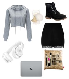 """No school"" by brooklynjlee ❤ liked on Polyvore featuring River Island, Timberland, Sephora Collection, Ashlyn'd and Beats by Dr. Dre"