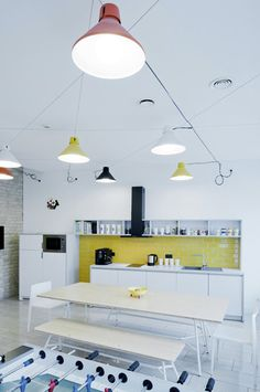 The Zero Daikanyama #pendant in @Wixcom offices, proving #office #lighting can be playful and colorful. #tech