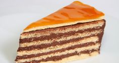 Dobostorta recept Hungarian Cookies, Hungarian Desserts, Hungarian Cake, Hungarian Cuisine, Hungarian Recipes, Dobos Cake Recipe, Sweets Cake, Cupcake Cakes, Cookie Recipes