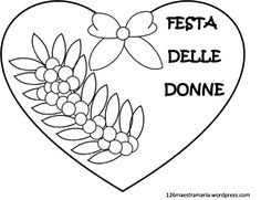 Disegni Da Colorare Festa Della Donna.Festa Della Donna