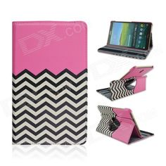 Wave Pattern 360 Degree Rotation PU Flip Open Case w/ Stand for Samsung Galaxy Tab S 8.4 T700 Price: $11.91