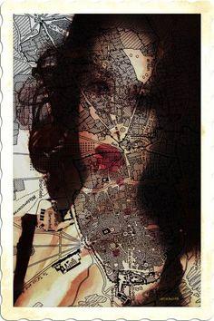 "Saatchi Art is pleased to offer the photograph, STREETS.,"" by ACQUA LUNA. Original Photography: Color, Digital, Manipulated on Paper. World Street, Street Art, Original Artwork, Original Paintings, Monica Bellucci, Art World, Artwork Online, Photo Art, Saatchi Art"