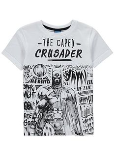 Batman T-shirt, read reviews and buy online at George at ASDA. Shop from our latest range in Kids. A cape isn't always appropriate, so this Batman print T-sh...