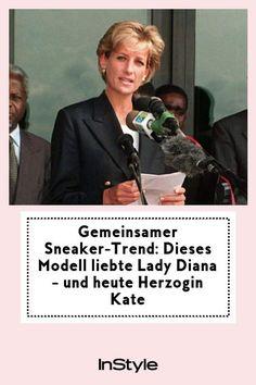 Nicht nur Lady Diana liebte den schlichten Sneaker-Trend von Superga, auch Herzogin Kate liebt sie und trägt die Klassiker noch heute. #instyle #instylegermany #ladydiana #sneakertrend #sneaker #royals
