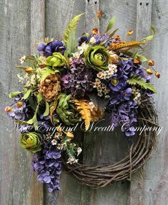 Newport Manor House Wreath ~New England Wreath Company Designer Original~ Elegant Fall Wreaths, Autumn Wreaths, Wreath Fall, Wreaths For Front Door, Door Wreaths, Grapevine Wreath, New England Fall, Fall Door, Thanksgiving Wreaths