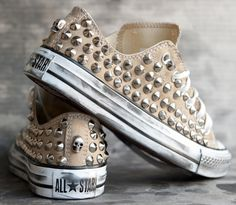 Studded converse - Love these!