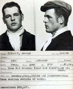 This mug shot comes from a police identification book believed to be from the 1930s.