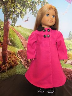 Pink Coat , 18''Doll , as seen on American Girl , Corduroy Coat, Fall, Winter and Spring Coat ,Casual Coat Dressy Coat ,Bright Coat,Fun Coat by SewManyThingsbyNancy on Etsy