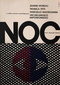 1966 Polish poster for LA NOTTE (Michelangelo Antonioni, Italy, 1961) [see also] Designer:Andrzej Onegin Dabrowski (1934-1986) Poster sourc...
