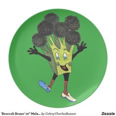 "'Broccoli Bruno' 10"" Melamine Plate"