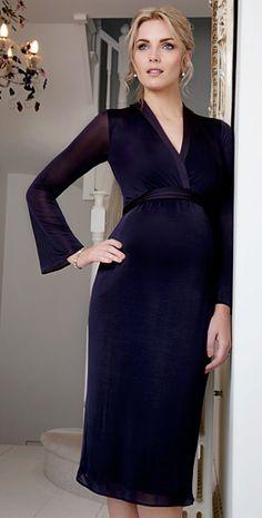 Miko Maternity Dress (Blackberry)