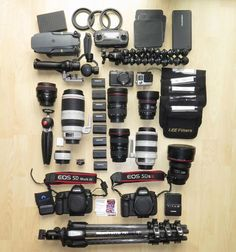 at Years ago I used to pack a small bag when I went travelling and then I got interested in photography - those days are gone! To capture the shot you need the right kit and a big bag. Having two EOS cameras in Photography Essentials, Photography Camera, Photography Equipment, Film App, Drones, Best Cameras For Travel, Instagram Editing Apps, Camera Deals, Landscape Photography Tips