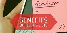 The 5 Undeniable Benefits of Keeping Lists