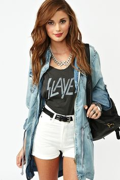 The fact she's wearing a Slayer tee is hilarious to me. I just want the jacket.
