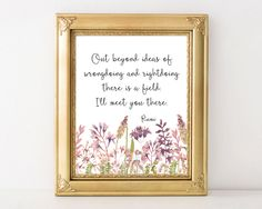 Rumi quote art printable inspirational typography home