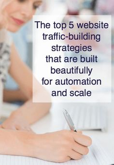 Discover the top 5 website traffic-building strategies that are built beautifully for automation and scale, so you can stop hustling for clients and customers. Business Stories, Business Tips, Online Business, Marketing Communications, Content Marketing Strategy, Mailing List, Business Storytelling, Storytelling Techniques, Website