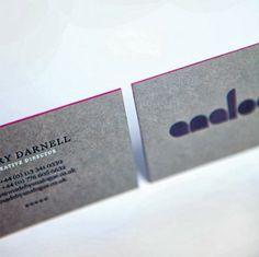 Analogue Business Cards via Analogue
