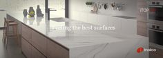 Today we share on #Inalcotrends some of iTOPKer solutions´ current surfaces for countertops.