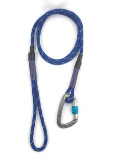 Blue climbing rope dog leash by OutdoorDog on Etsy https://www.etsy.com/listing/244285276/blue-climbing-rope-dog-leash