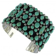Authentic Sterling Silver Turquoise Southwest Cuff Bracelet CX49000