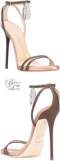 Brilliant Luxury by Emmy DE ♦ Giuseppe Zanotti Ankle Charm Sandals