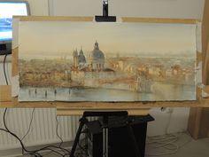 Sergiy Lysyy В мастерской художника Venice, Italy, Watercolors, Painting, Design, Art, Dibujo, Venice Italy, Art Background