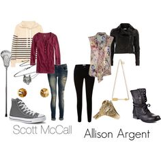 """""""Scott McCall and Allison Argent"""" by michelle-geiser on Polyvore"""