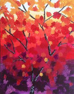 #PaintNite Painting: Autumn Blaze