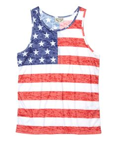 Loving this Exist American Flag Muscle Tank on #zulily! #zulilyfinds