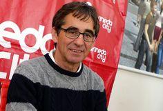 Fernando Vázquez, entrenador del Depor, estuvo hoy en Marineda City para participar en un encuentro digital con los lectores de La Voz de Galicia