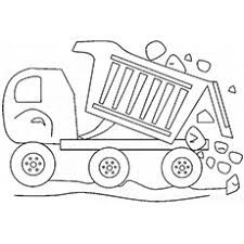 Kids Always Adore Different Shapes Patterns If You Want To Help Nurture Their Artistic Abilities Give These Fun Free Printable Dump Truck Coloring Pages