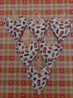London hearts for tree decoration gifts 2014