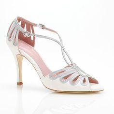 Art Deco Bridal Shoes Leila Silver | Emmy London