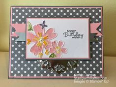 When I looked at the challenge from Fab Friday, I had no idea where I was going with it. I started with the Smoky Slate and Pink Pirouette paper and then I added the neutrals designer paper. This…